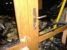 Požár bývalého kravína v Losiné