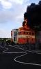 Požár průmyslové haly Litice